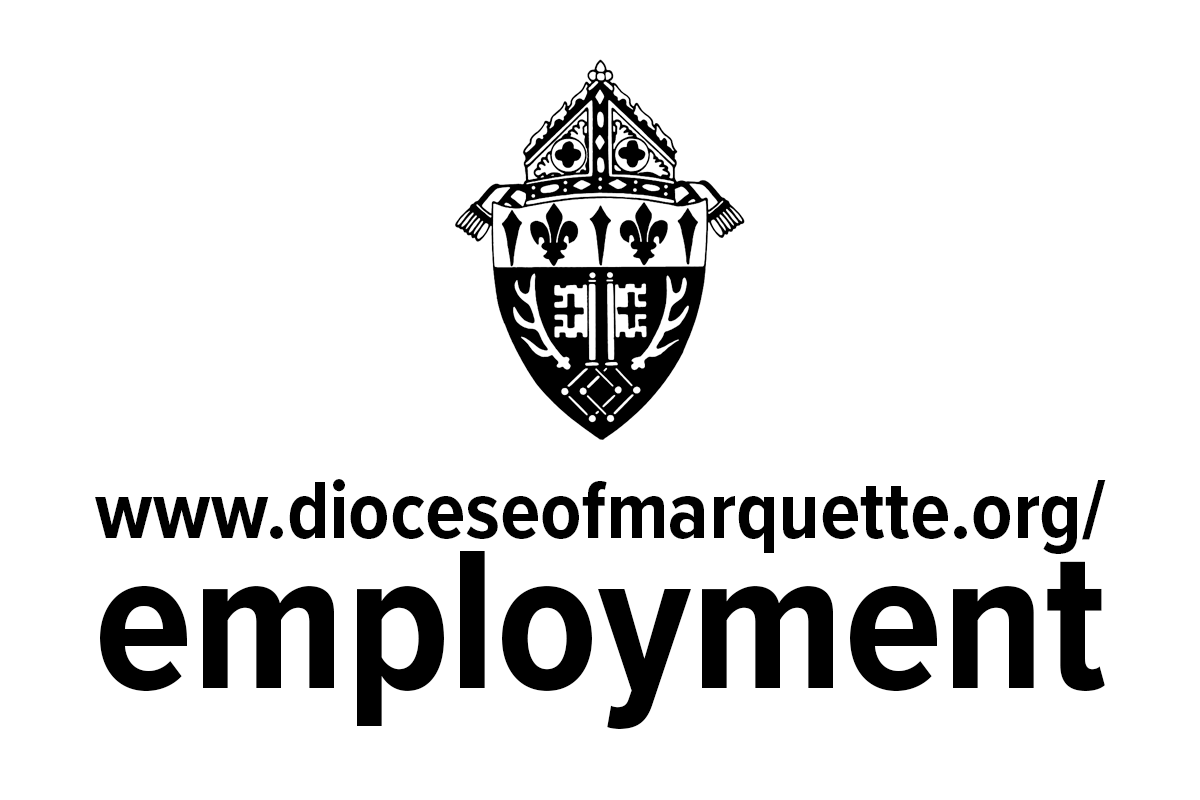 Graphic for www.dioceseofmarquette.org/employment web page